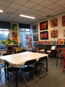 Afbeelding workshopruimte schilderen